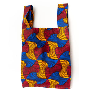 Mellows African Wax Pocketable Shopping Bag