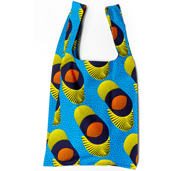 Fizzy Pills African Wax Pocketable Shopping Bag