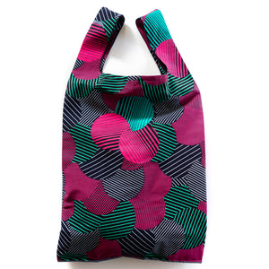 Likoloto African Wax Print Pocketable Shopping Bag Lsize
