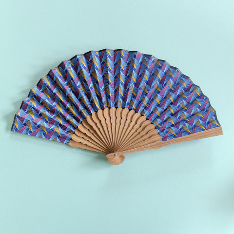Geometric Shweshwe x Japanese Fan