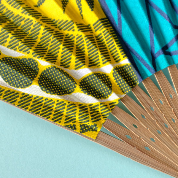 Poolside Wax Print x Japanese Fan