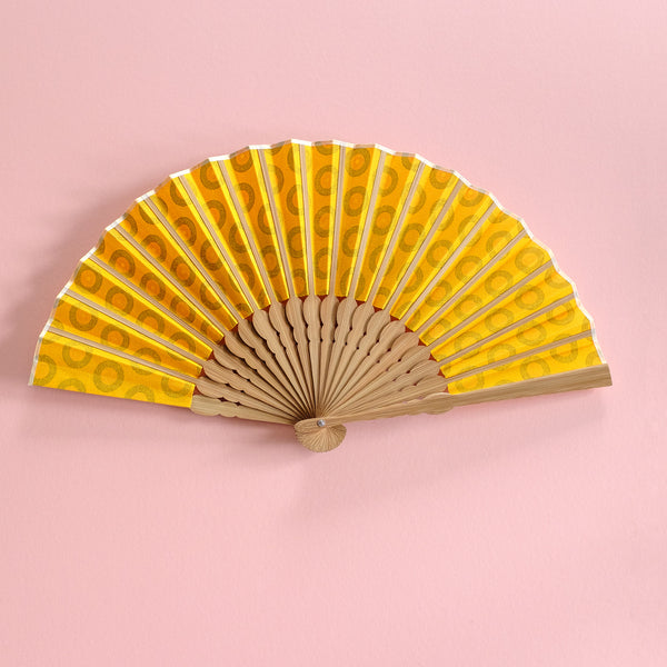 Yellow Record Shwweshwe x Japanese Fan