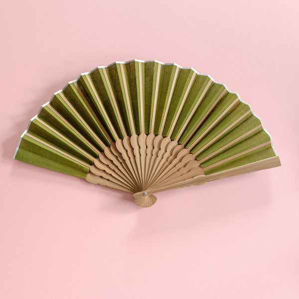 Green Flower Shweshwe x Japanese Fan