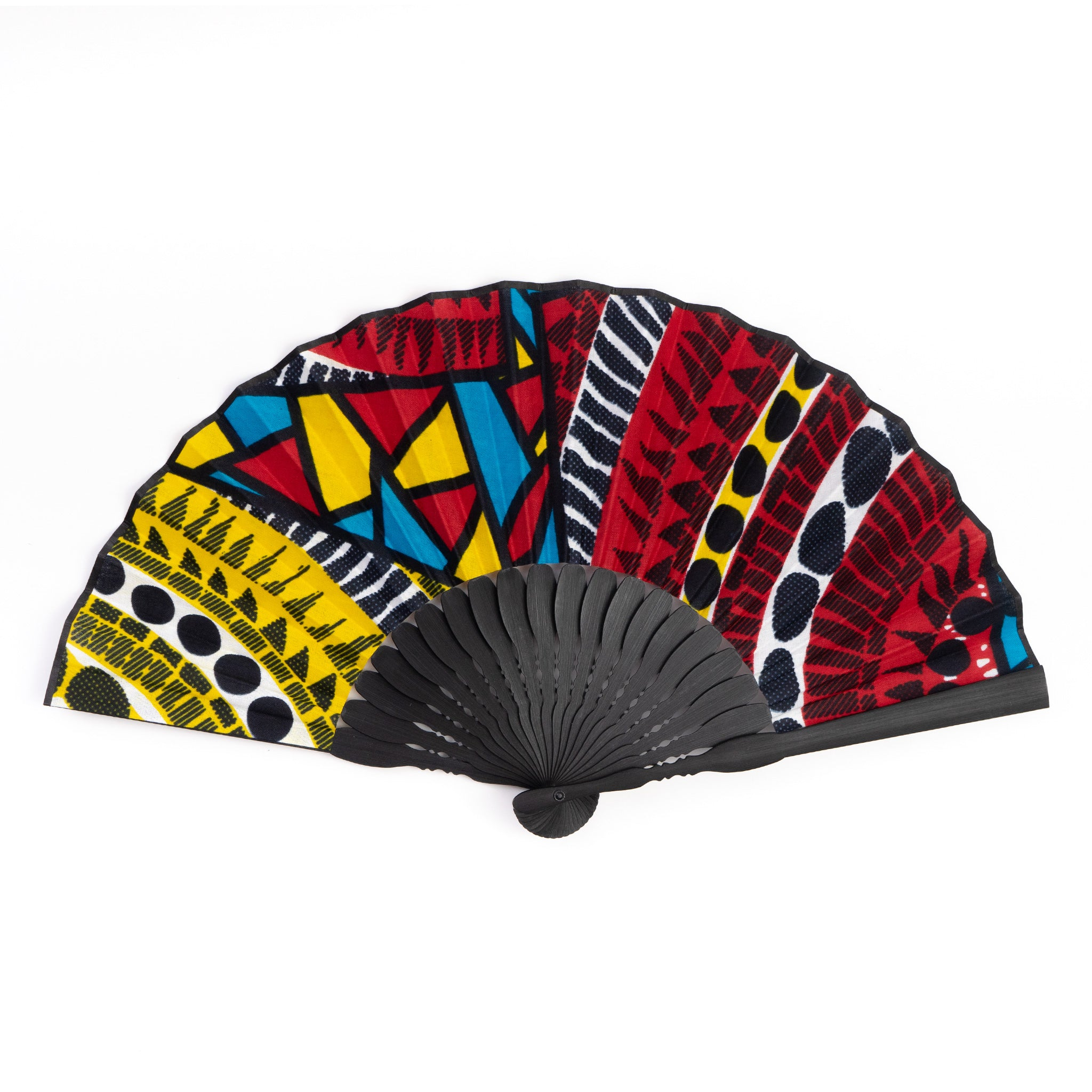 Pool Party African Wax Print x Japanese Fan