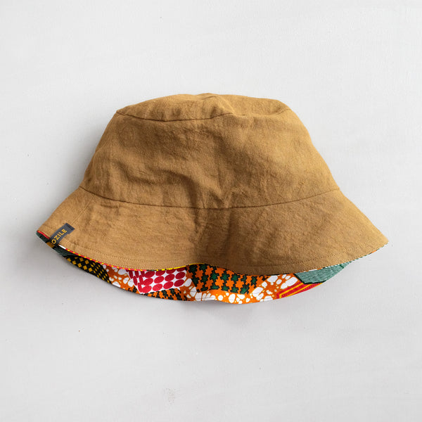 Alice in Wonderland African Wax Print Bucket Hat