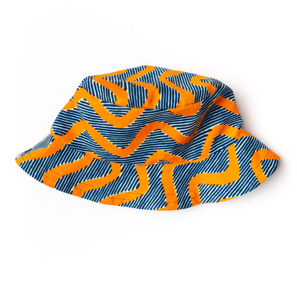 Wavy African Wax Print Bucket Hat