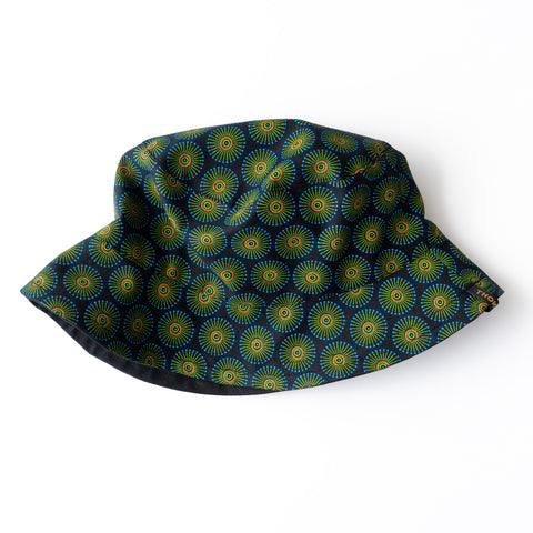 Blue Kiwi Shweshwe Bucket Hat