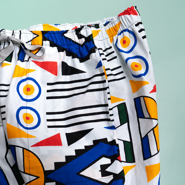 Ndebele Plus Wax Print Cropped Pants for Men
