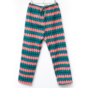 Pinki Wax Print Cropped Pants for Men