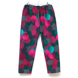 Likoloto Wax Print Drawstring Long Pants