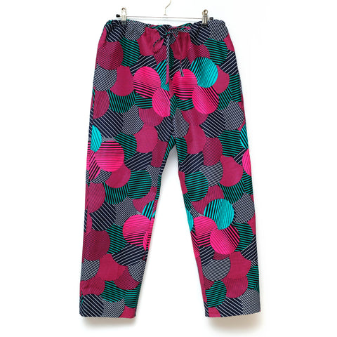 Likoloto Wax Print Drawstring Long Pants for Lady