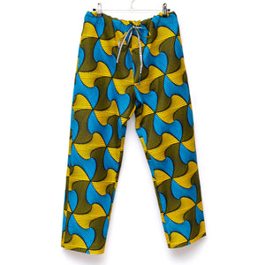 Mellows Wax Print Drawstring Long Pants