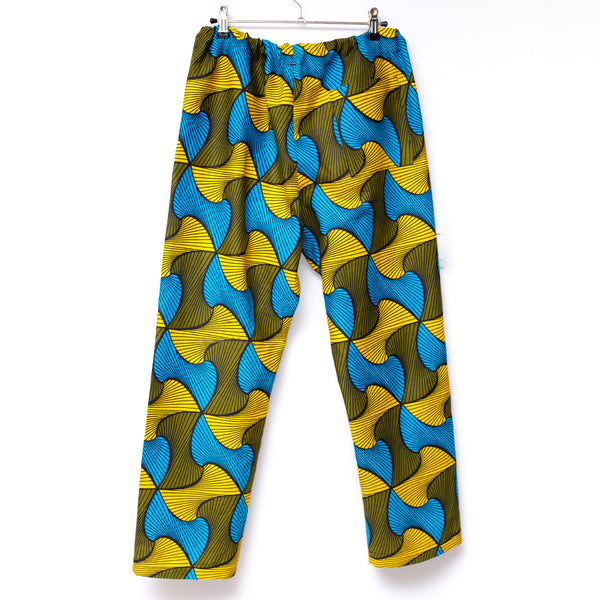 Mellows Wax Print Drawstring Long Pants for Ladies