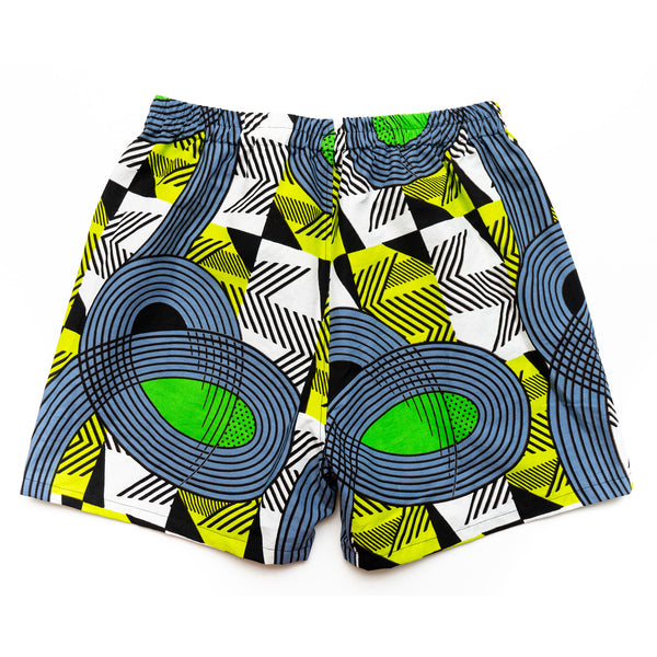 Joburg traffic African Wax Print Lounge Shorts