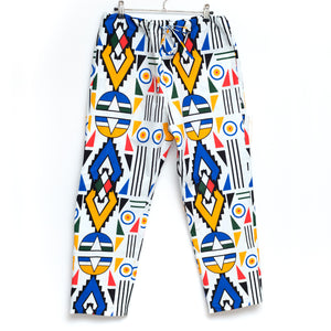 Ndebele Plus Wax Print Drawstring Long Pants