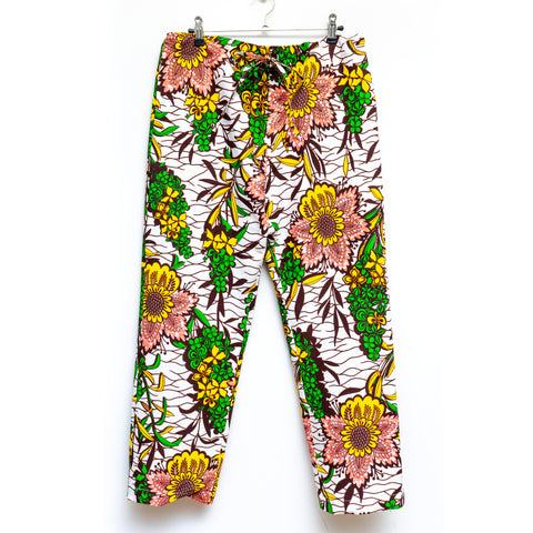 Garden African Wax Print Drawstring Long Pants