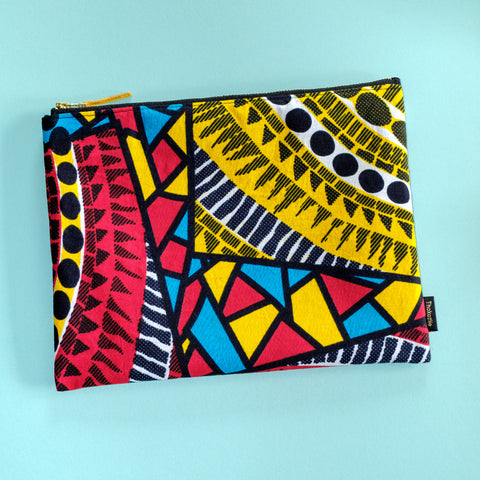 Pool Party Wax Print Pouch