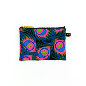 Fire Flower African Fabric Pouch (S size)