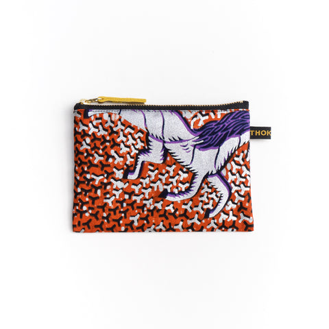 Horse Dutch Wax Print Pouch (S size)
