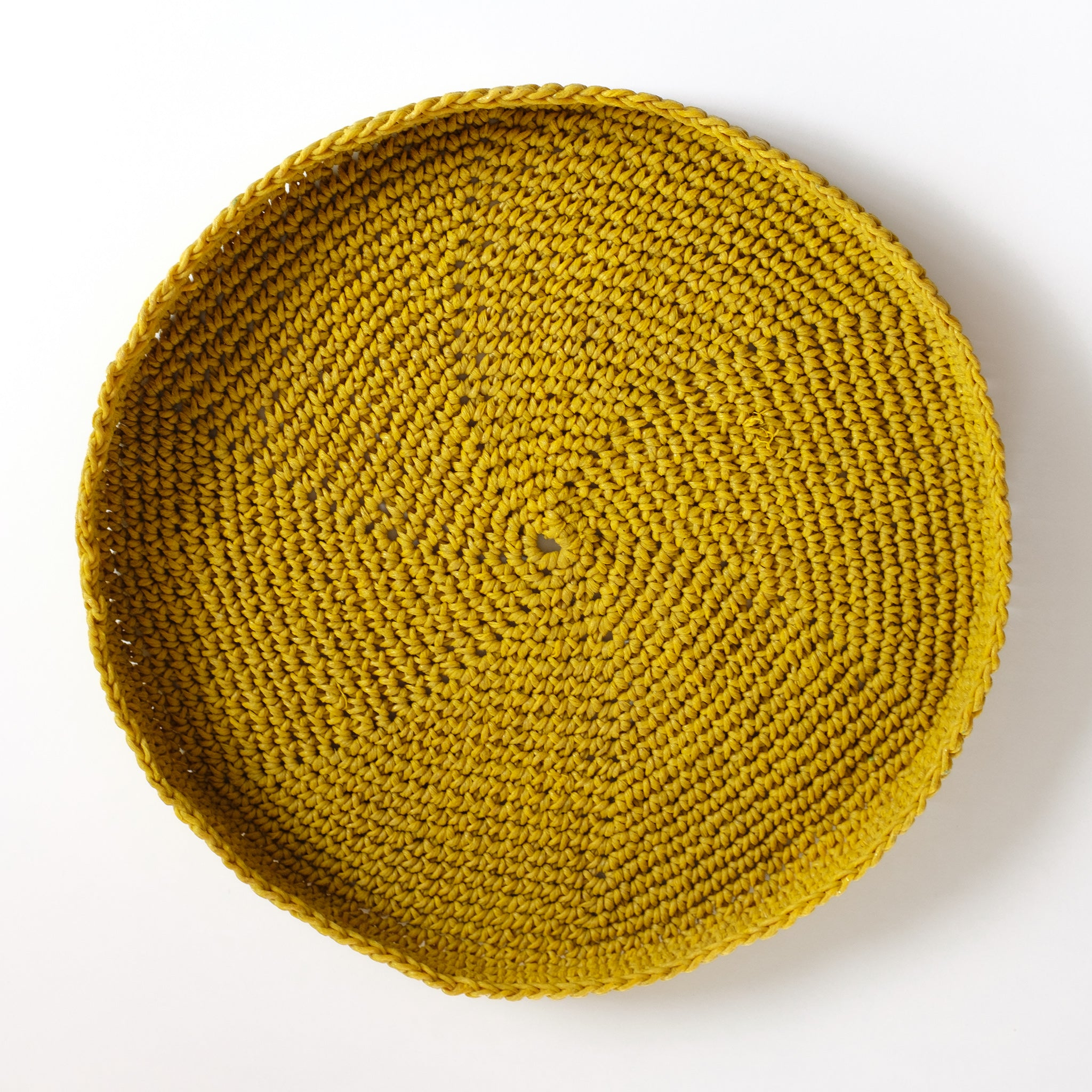 Crochet Hemp Seed Stitch Tray