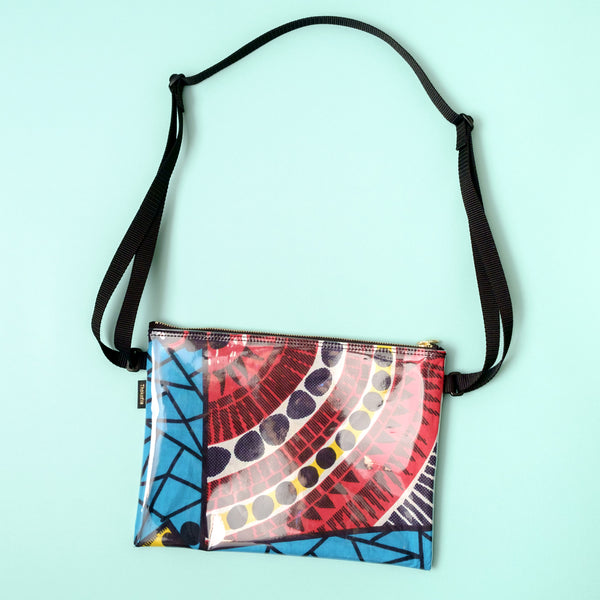 African wax print shoulder bag