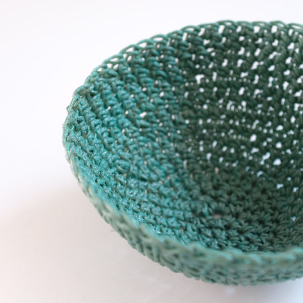 Crochet Hemp Mini Bowl