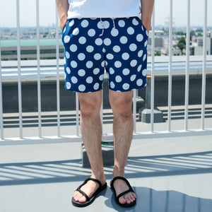 Big Dot Indigo Shweshwe Shorts