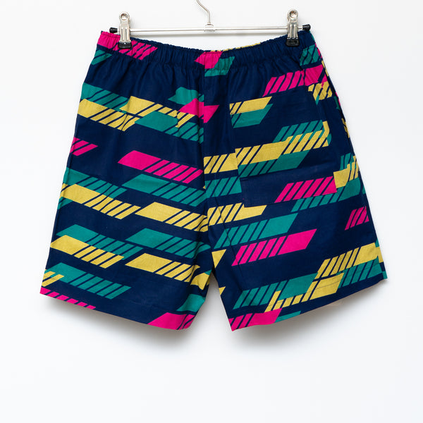 Line African Wax Print Shorts