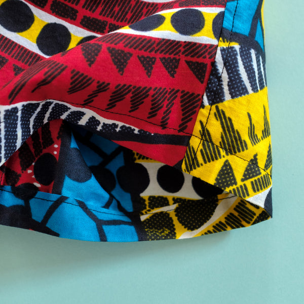 Pool Party Wax Print Shorts for Kids