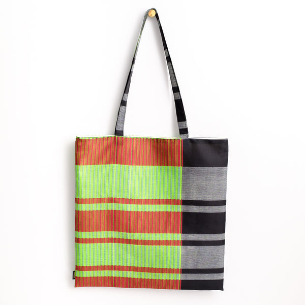African Stripe Print Tote アフリカンストライププリントトートバッグ
