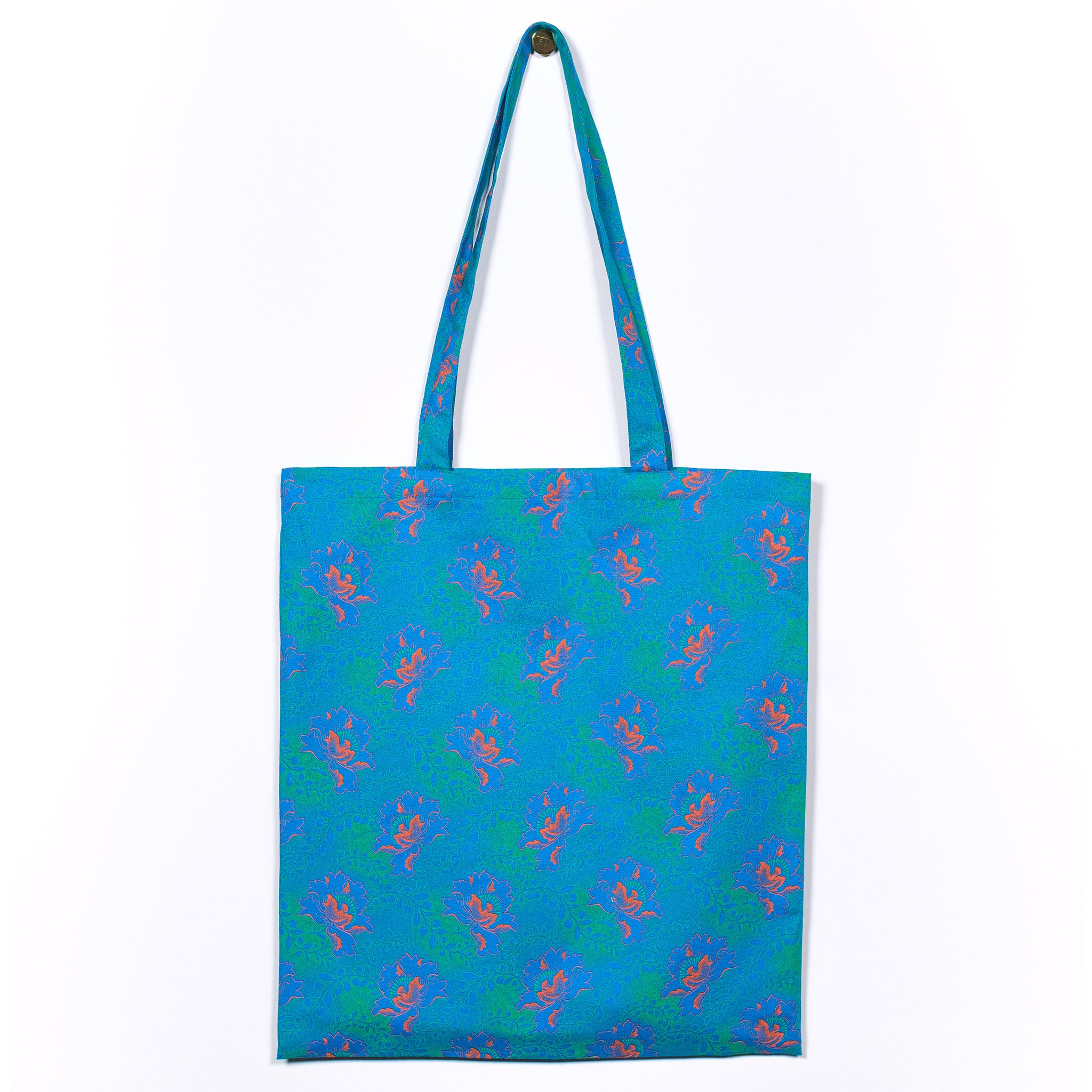 Green Flower Shweshwe Tote