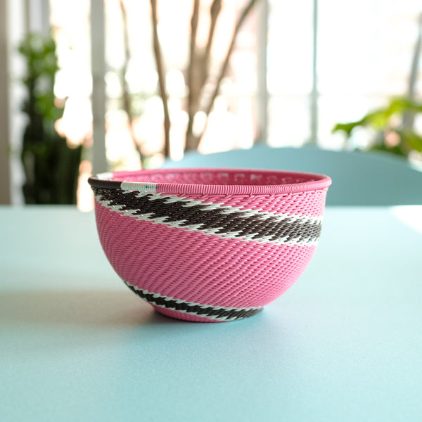 Pink and Chocolate Swirl Basket