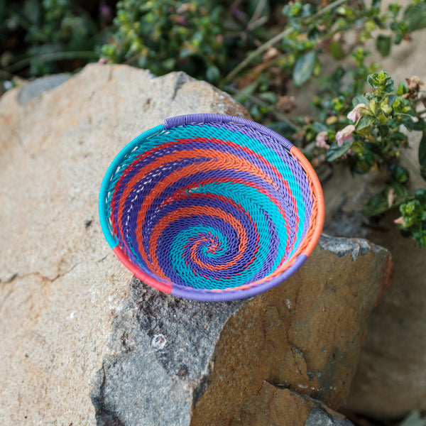 80's Africa Small Swirl Basket