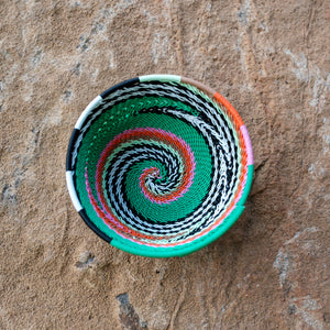 90's African Small Swirl Basket