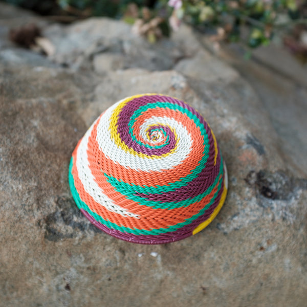 70's Africa Small Swirl Basket