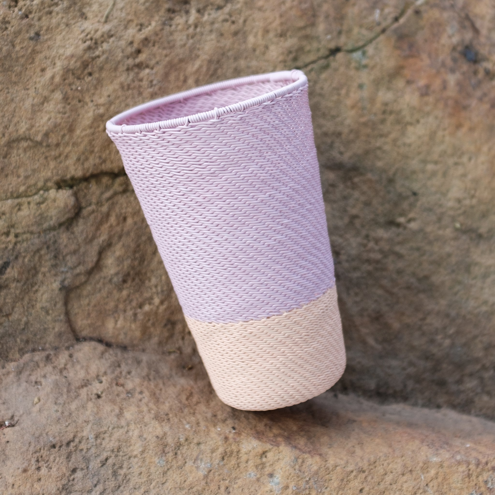 Pink and Cream Tumbler