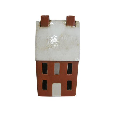 A TEA LIGHT HOUSE AMBER  YA 0019