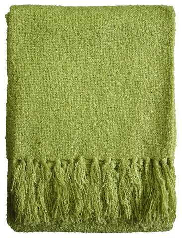 THROW Acrylic Boucle Yarn Throw - Lime 130x150cm
