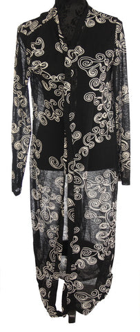 CAPE SWIRLS COAT  175 BLACK
