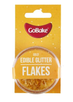Edible Glitter Flakes Gold