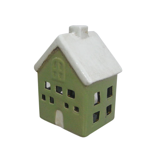 A TEA LIGHT HOUSE GREEN YA 0020