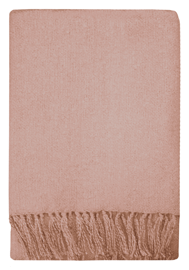 THROW Rhapsody Acrylic Throw - Dusky Pink 130x150cm