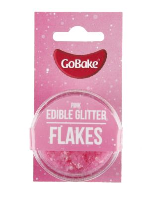 Edible Glitter Flakes Pink