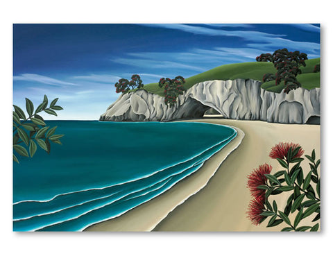 CANVAS Pohutukawa Cave -xl Diane Adams