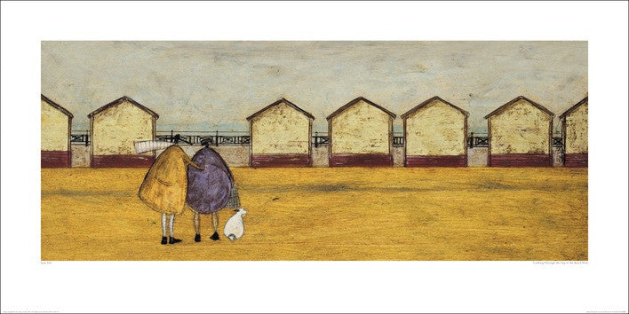 Sam Toft (Looking Through The Gap In The Beach Huts) 50x100
