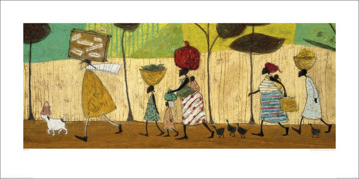 Sam Toft (Doris helps out on the trip to Mzuzu) 50x100