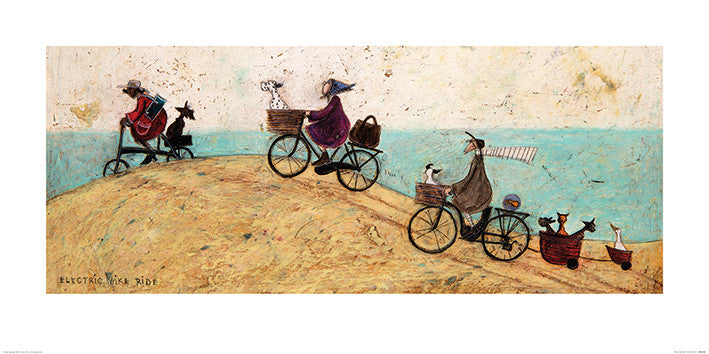 Sam Toft (Electric Bike Ride) 50x100