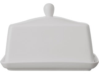White Basics Covered Butter Dish
