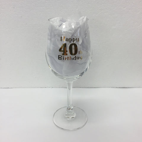 Wine Glass 40th