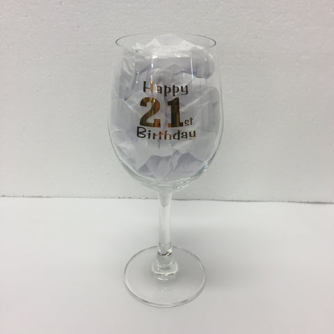 Wine Glass 21st